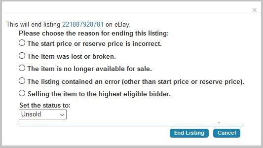 Ending eBay Listings 3
